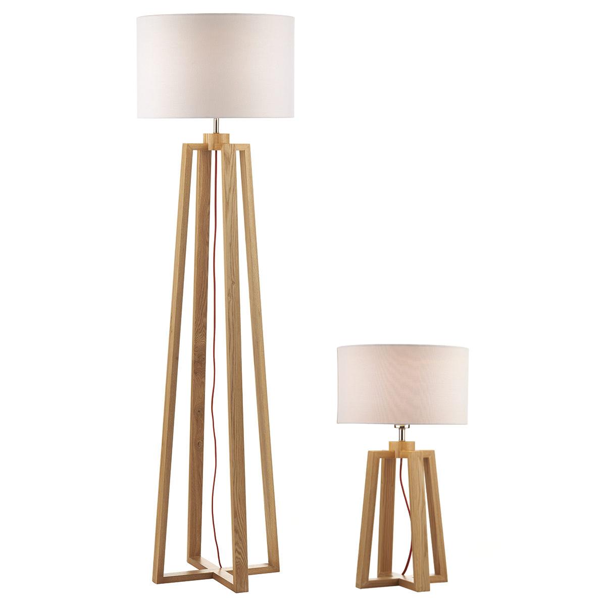 Pyramid Table Lamp And Floor Lamp Twincw Shade