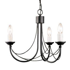Elstead Carisbrooke Black 6 Light Chandelier ELSCB6