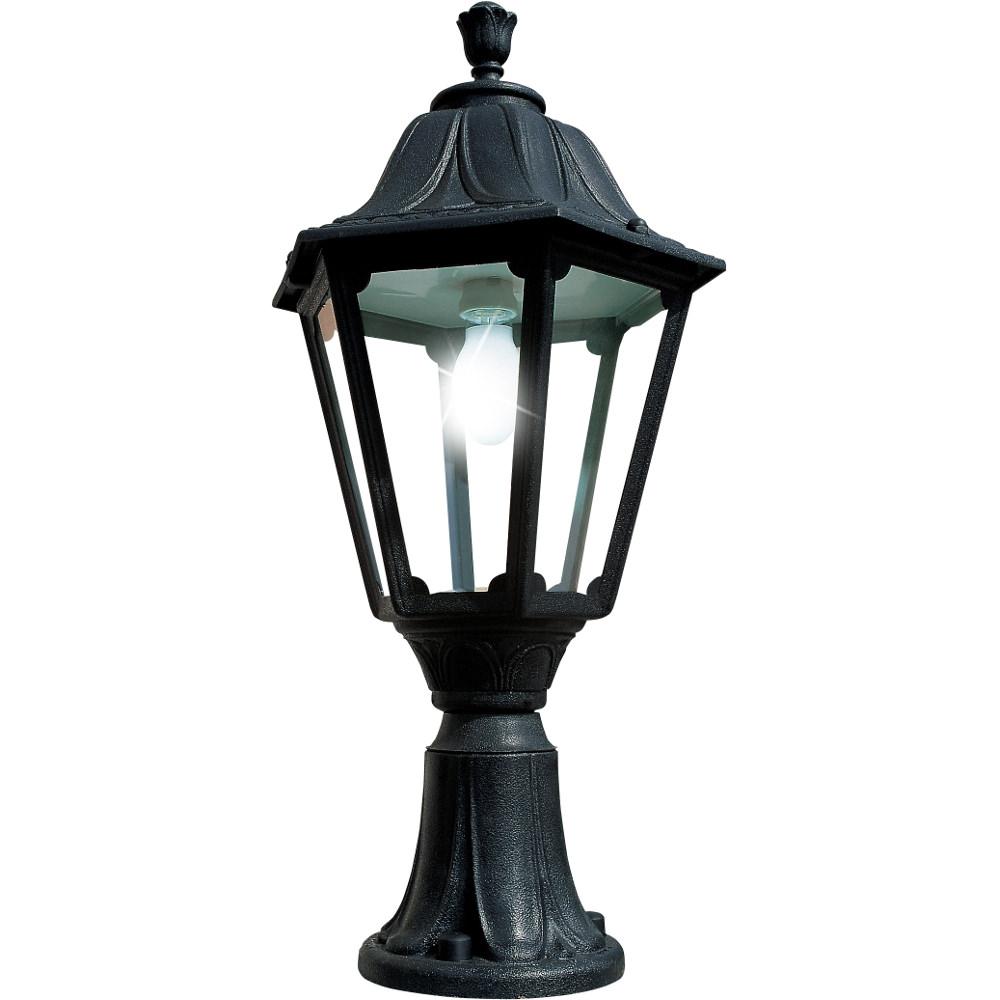 Noemi Lot E27 Pedestal Lantern Black