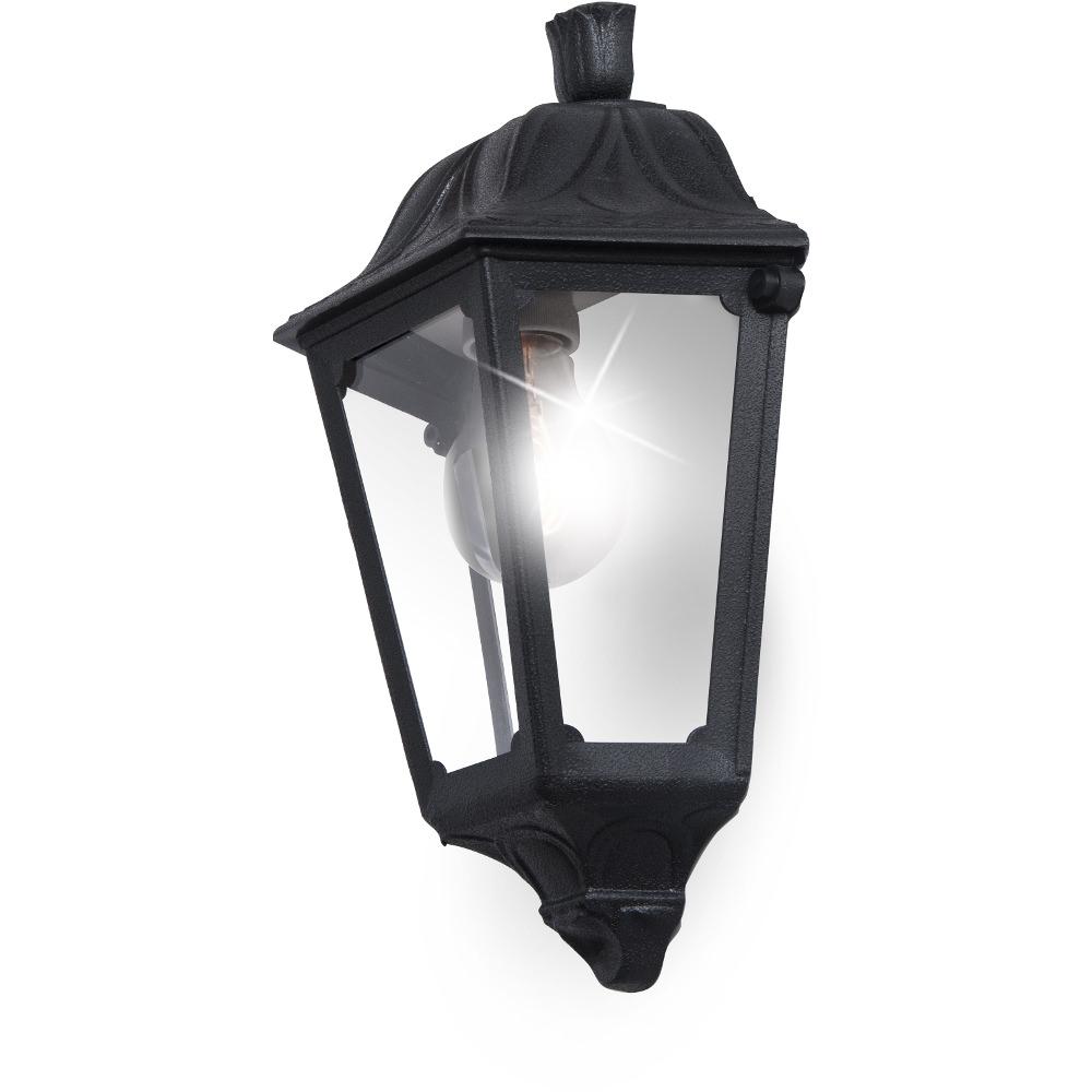 Outdoor Wall Lights Beacon Lighting: Iesse E27 Half Lantern Black